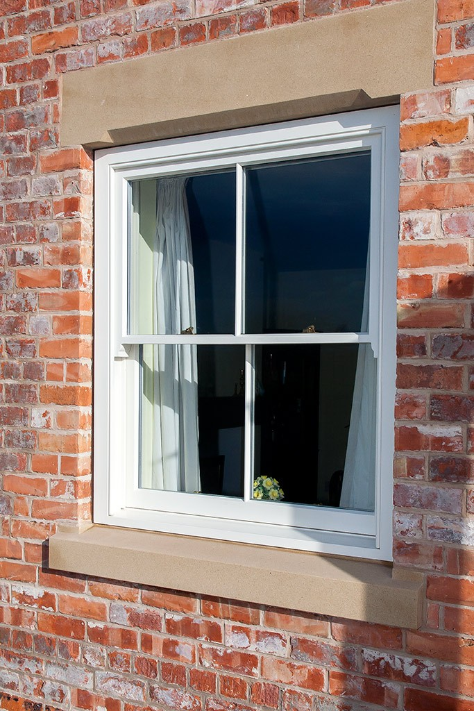 Modern insulation requirements achieved in our sliding sash windows