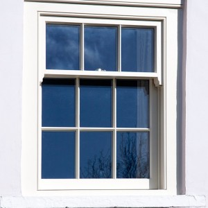 Sliding Sash Window In A Three Over Six Configuration