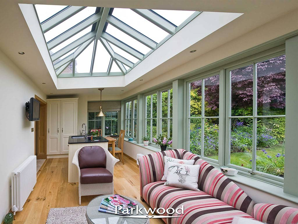 Family living space in a Parkwood orangery