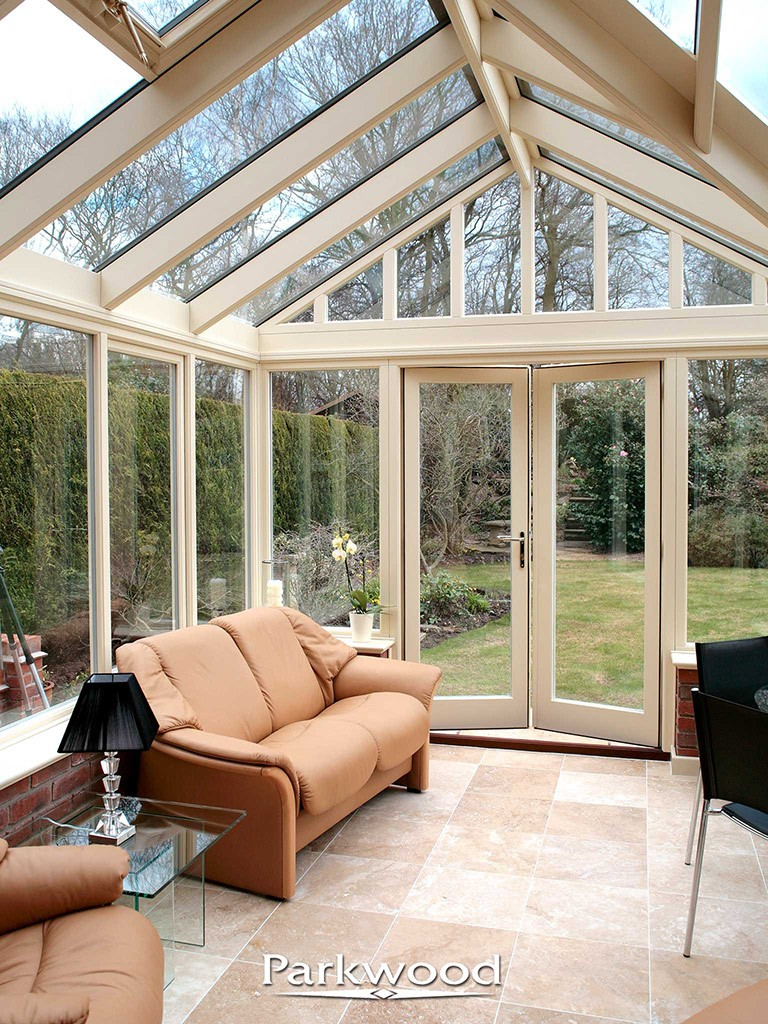 Painted timber conservatory by Parkwood